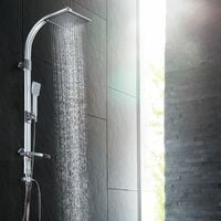 Shower panel SF-8612 rain shower with handheld shower - shower tower, shower column, shower wall panel - grey