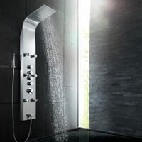 Shower panel, waterfall - shower tower, shower column, shower wall panel - grey