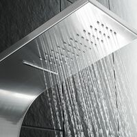 Shower panel, waterfall with massage jets - shower tower, shower column, shower wall panel - grey