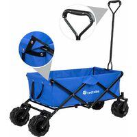 Garden trolley fodable with carry bag - garden cart, beach trolley, trolley cart - blue