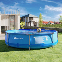 Swimming pool round with pump - outdoor swimming pool, outdoor pool, garden pool - Ø 300 x 76 cm - blue