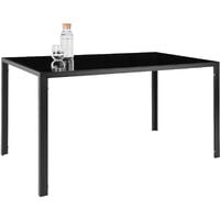 Dining table and chair Set Berlin 4+1 - dining room table and chairs, dining table and 4 chairs, kitchen table and chairs - black