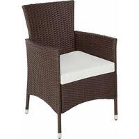 Rattan garden furniture set Lucerne - garden tables and chairs, garden furniture set, outdoor table and chairs - mixed brown