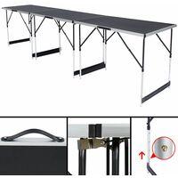 Pasting table made of aluminium 3 PCs. - folding table, wallpaper table, wallpaper pasting table - black