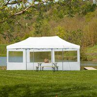 Gazebo collapsible 3x6 m with 2 Sides - Viola - garden gazebo, gazebo with sides, camping gazebo - white