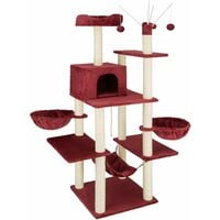 Lilou Cat Tree - cat scratching post, cat tower, scratching post - burgundy