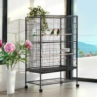 Bird cage 131cm high - bird aviary, parrot cage, budgie cage - anthracite