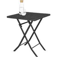 Rattan garden furniture set Trevi - garden tables and chairs, garden furniture set, outdoor table and chairs - black
