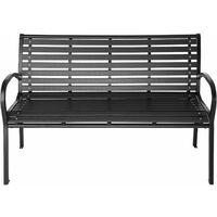 Garden bench Pino - outdoor bench, metal garden bench, metal bench - black