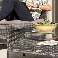 Rattan garden furniture Set Madeira - garden tables and chairs, garden furniture set, outdoor table and chairs - brown