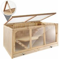 Goldie hamster cage - gerbil cage, hamster house, wooden hamster cage - brown