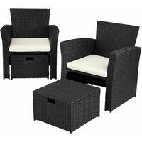 Rattan garden furniture set Modena - garden sofa, garden sofa set, rattan sofa - black