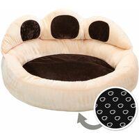 Dog bed Balou - cat bed, puppy bed, pet bed - Ø 80 x 33 cm - brown/beige