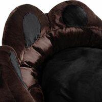 Dog bed Balou - cat bed, puppy bed, pet bed - Ø 80 x 33 cm - black/brown