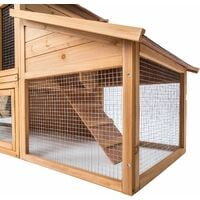 XXL hutch for small animals - brown