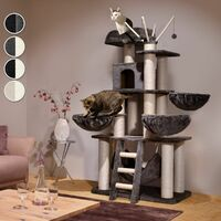 Cat tree Gismo - cat scratching post, cat house, cat tower - black/white