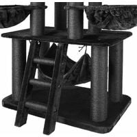 Cat tree Gismo - cat scratching post, cat house, cat tower - black