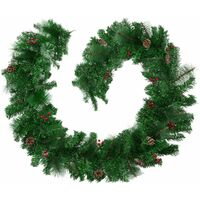 Christmas Garland with Pinecones - Christmas wreath, garland, wreath - red/green