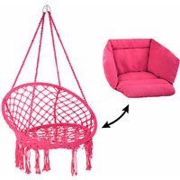 Hanging chair Grazia - garden swing seat, hanging egg chair, garden swing chair - pink