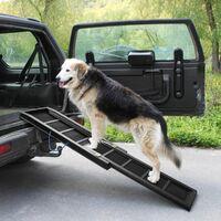 Dog ramp for car - dog ramp, pet ramp, folding dog ramp - brown
