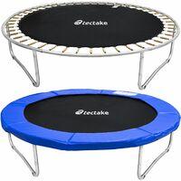 Trampoline Garfunky - 8ft trampoline, kids trampoline, garden trampoline - 244 cm - black/blue