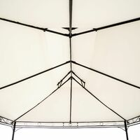 Luxury gazebo 4x3m with 6 side panels - garden gazebo, gazebo with sides, camping gazebo - cream