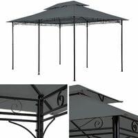 Luxury gazebo 4x3m with 6 side panels - garden gazebo, gazebo with sides, camping gazebo - anthracite
