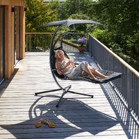 Hanging chair Kasia - garden swing seat, garden swing chair, swing chair - grey