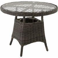 Garden table - bistro set, garden coffee table, patio table - grey