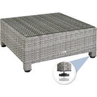 Rattan garden furniture set with aluminium frame - garden sofa, rattan sofa, garden sofa set - light grey