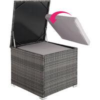 Rattan garden furniture lounge Pisa - garden sofa, garden corner sofa, rattan sofa - grey