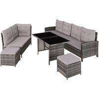 Barletta Rattan Garden Furniture Set - rattan garden furniture set, rattan garden furniture, lounge set - grey
