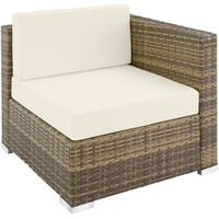 Rattan garden furniture lounge Marbella - garden sofa, garden corner sofa, rattan sofa - nature