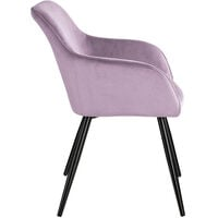 Chair Marilyn with armrests - office chair, desk chair, dining chair - pink/black