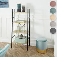 Stool Sarina upholstered velvet look with storage space - 300kg capacity - bar stool, dressing table chair, dressing table stool - turquoise