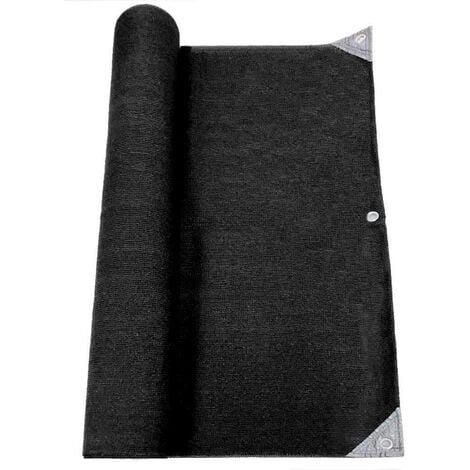 Brise vue pro renforcé 1.5x10 m  noir HDPE haute densité 300gr