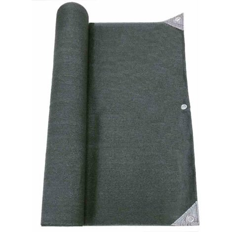 Brise vue pro renforcé 1.5x10 m  gris HDPE haute densité 300gr