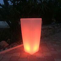 Vase lumineux décoratif POTY blanc plastique H70cm