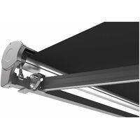 Store banne motorisé LED VEGAS gris en aluminium 3x2.5 m