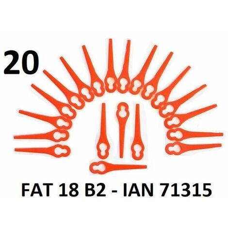 Florabest 20 plaquettes de coupe / couteaux plastiques Florabest LIDL Coupe-bordures sans fil FAT 18 B2 - LIDL IAN 71315 - FAT 18B2 / FAT18B2