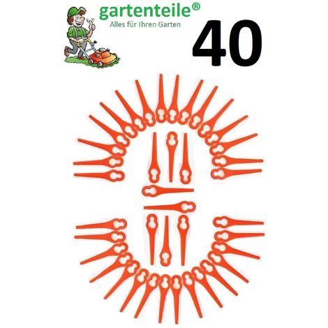 40 lames de rechange pour tondeuse à gazon à batterie Florabest FAT18B2 - LIDL 95940
