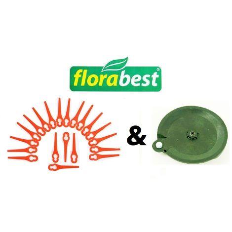 20 couteaux et 1 disque de coupe Florabest Tondeuse à gazon à batterie LIDL Florabest
