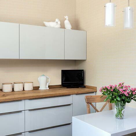 Contour Sparkle Tile Effect Cream Kitchen Bathroom Wallpaper (Was £14)