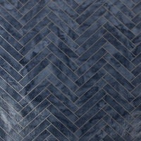 Contour Antibac Marble Chevron Navy Tiled Wallpaper