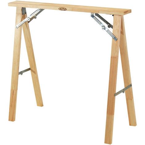 TRETEAU KIPLI en bois totalement repliable, robuste et a faible encombrement