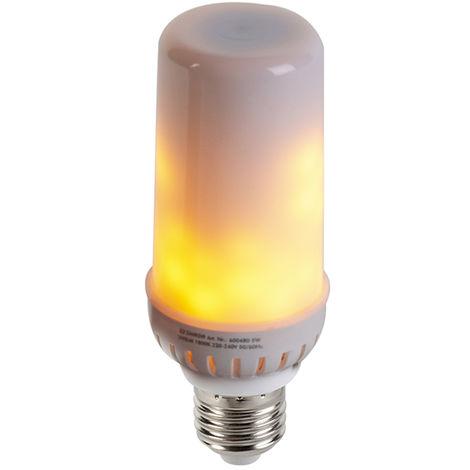 Shada Bombilla E27 LED efecto de llama 5W 300lm 1800 K