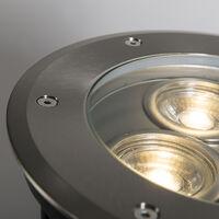 QAZQA + Moderno Foco empotrado en suelo acero inoxidable IP67 - TRIBUS Redonda /Cilíndra Adecuado para LED Max. 3 x 35 Watt