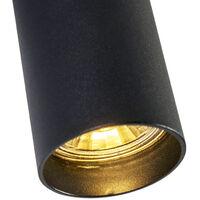 QAZQA + Diseño Foco moderno negro bombilla-WiFi-GU10 - TUBA 1 Acero Cilíndra Adecuado para LED Max. 1 x 5 Watt