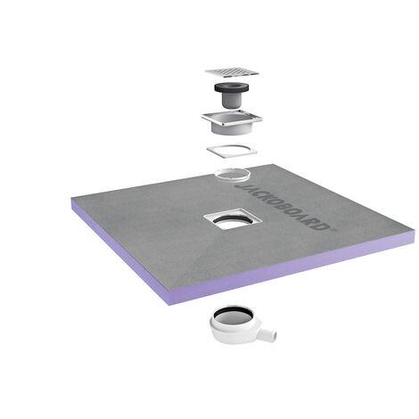 Jackon Receveur de douche à carreler Aqua Centré 900x900x40mm siphon horizontal offert (4512087 + 4512007)