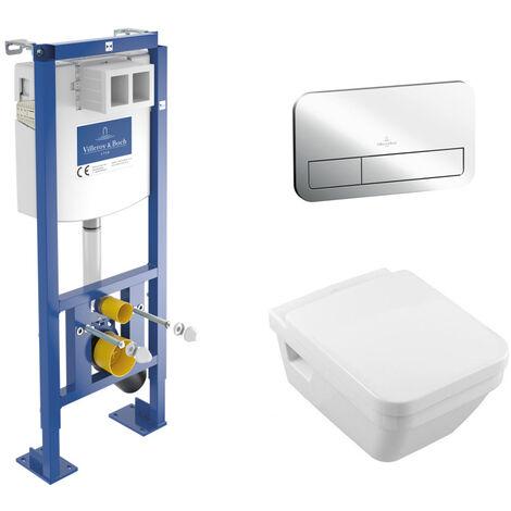 Villeroy & Boch Pack WC suspendu Villeroy cuvette rectangulaire (Architecturaset1)